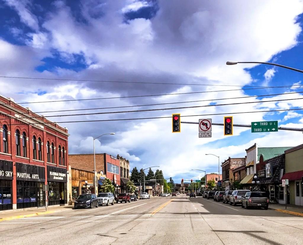 Historic Main Street in Downtown Kalispell, Montana