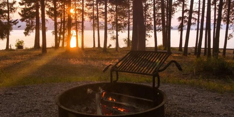 Montana Campground Campfire