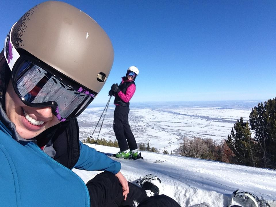 Top of the mountain at Red Lodge Ski Resort.
