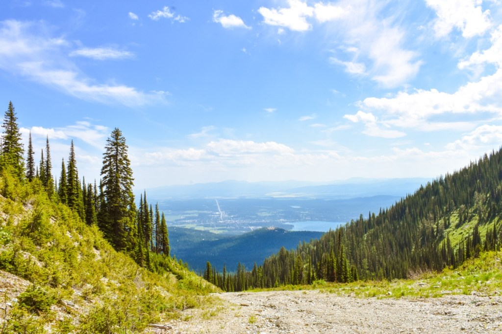 Panoramic view seen during a hike on Whitefish Mountain
