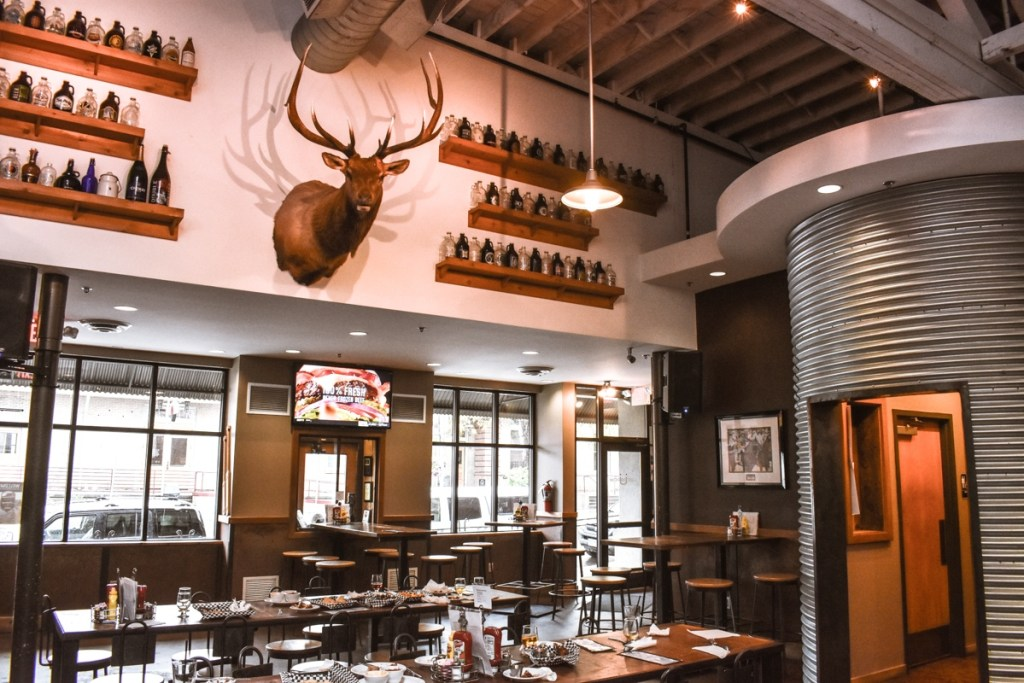 Dining area of Uberbrew, a popular craft brewery in Billings that serves up beer tastings and pub-style eats.