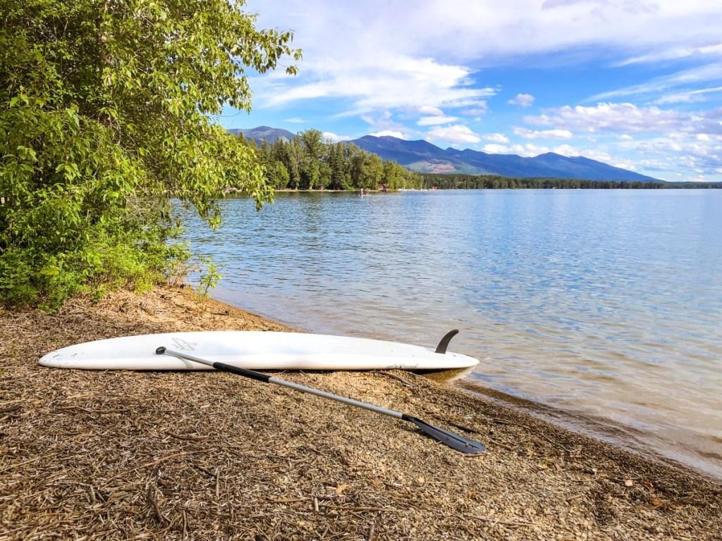 Paddle Boarding in Swan Lake, Montana at Swan Lake Day Use Area Near Kalispell