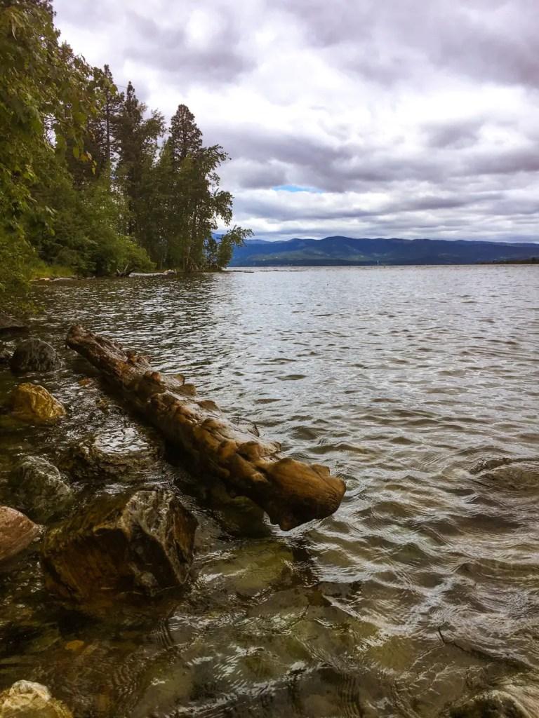 Flathead Lake on a cloudy Montana day