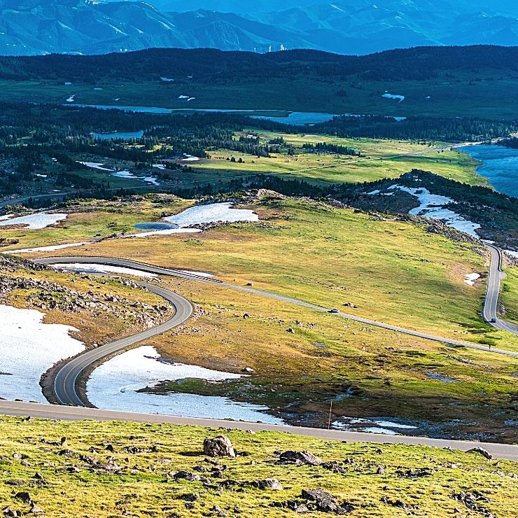 The Beartooth Highway in Montana goes from Red Lodge to Yellowstone National Park and is one of the most scenic drives in Montana.