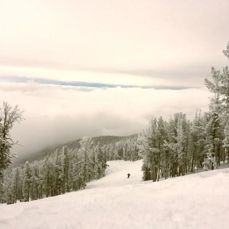 Skiing in Montana: A ski run at Red Lodge Mountain