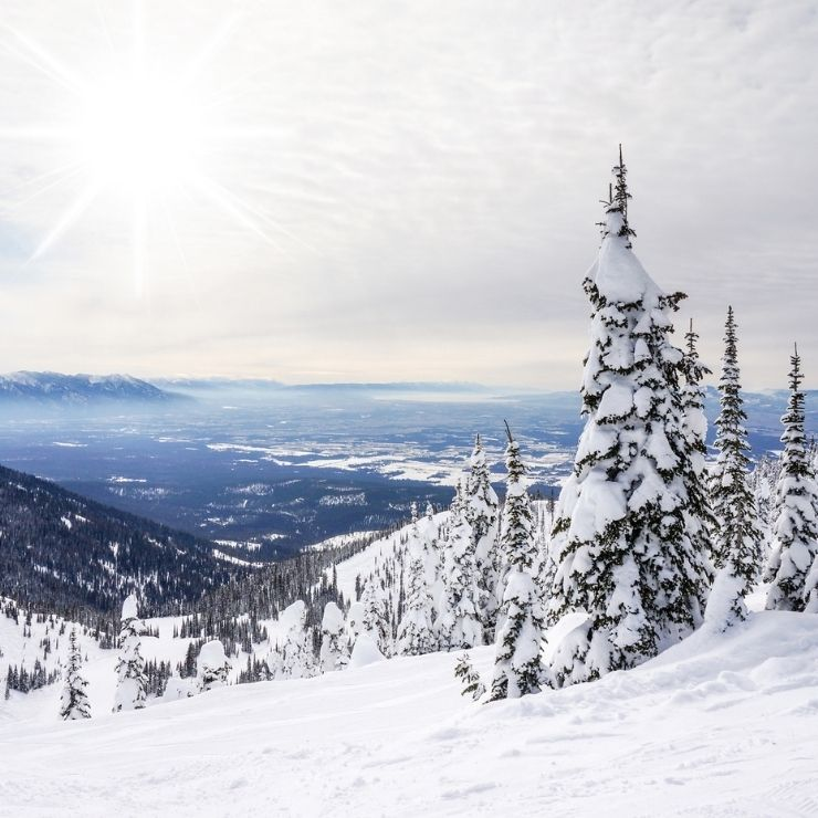 Big Sky Country view from the top of Whitefish Mountain