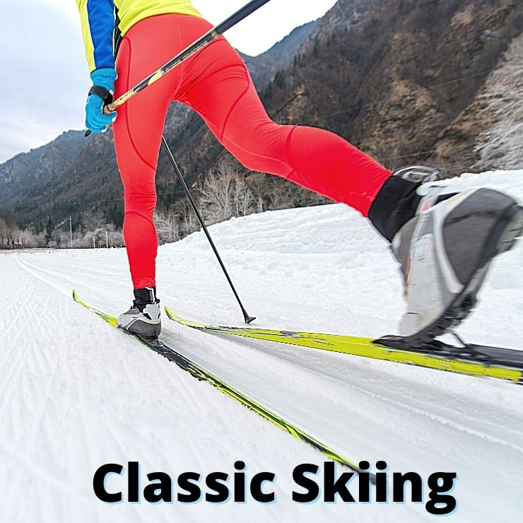 Classic cross country skiing is one type of skiing you can do in Montana.