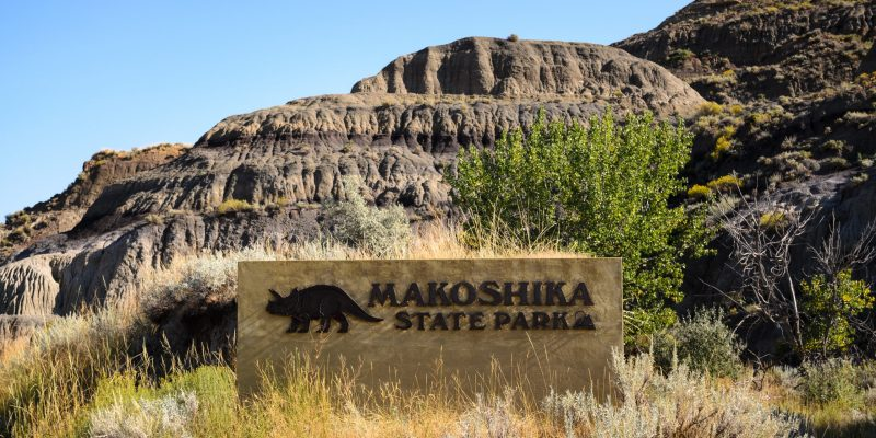 Glendive, Montana is home to Makoshika State Park and other incredible dinosaur exhibits and Badlands scenery.