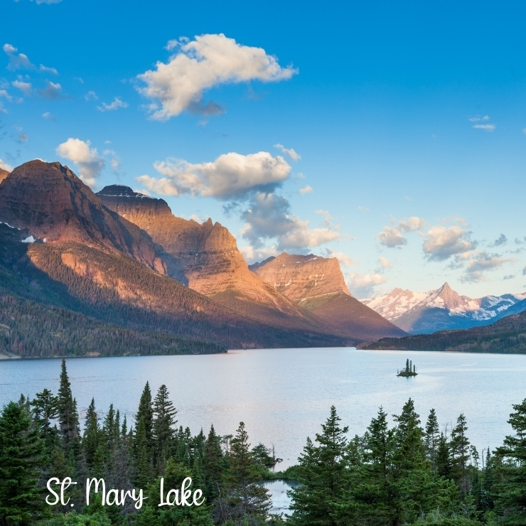 Beautiful St. Mary Lake provides one of the most picturesque views in Glacier National Park.
