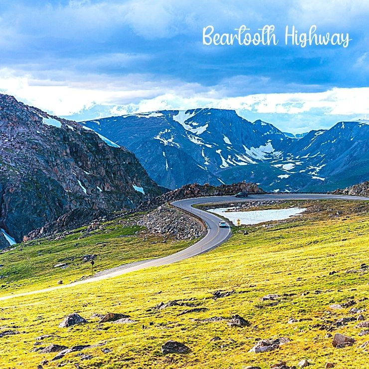 Beartooth Highway takes visitors from Red Lodge to Yellowstone National Park and is one of the most beautiful drives in Montana.