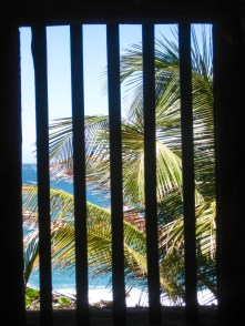 view from inside one of the forts