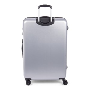 Bugatti Hard case carry-on Luggage Silver HLG1603-silver Back