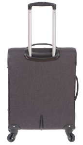 AIR CANADA 20 CARRY ON SOFTSIDE UPRIGHT SUITCASE CHARCOAL C0629 Back
