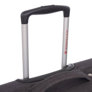 AIR CANADA 24 SOFTSIDE UPRIGHT SUITCASE CHARCOAL C0629 Handle