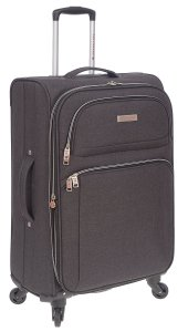 AIR CANADA 24 SOFTSIDE UPRIGHT SUITCASE CHARCOAL C0629 Side