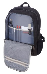 AIR CANADA BUSINESS ROLLER AND LAPTOP BACKPACK 2 PIECE LUGGAGE SET BLACK C0610S2 Inside Pocket