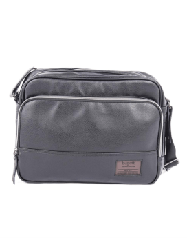 Bugatti Moto D Messenger Bag In Synthetic Leather Black