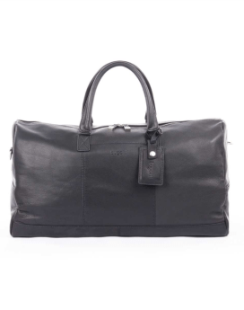 Bugatti Sartoria Duffel Bag Leather Black Travel n Gear