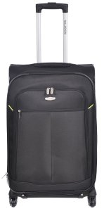 MILLENIUM 3 PIECE LUGGAGE SET - CHECKED & CARRY ON SUITCASES WITH TOTE BAG BLACK C0604S3BLK Front