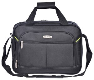 MILLENIUM 3 PIECE LUGGAGE SET - CHECKED & CARRY ON SUITCASES WITH TOTE BAG BLACK C0604S3BLK Tote Front