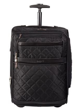 Bugatti Vail Soft Luggage Polyester Carry-On Black SLG10111 Front