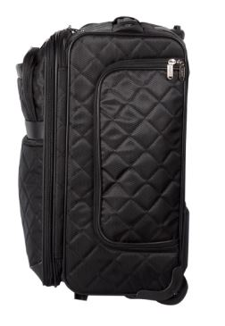 Bugatti Vail Soft Luggage Polyester Carry-On Black SLG10111 Side Left