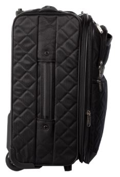 Bugatti Vail Soft Luggage Polyester Carry-On Black SLG10111 Side Right