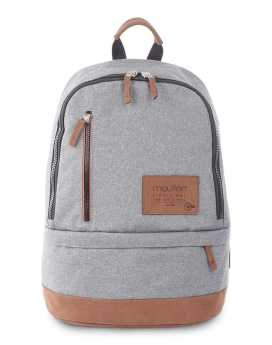 Bugatti Wander Backpack in Polyester BKP3149 Grey Front