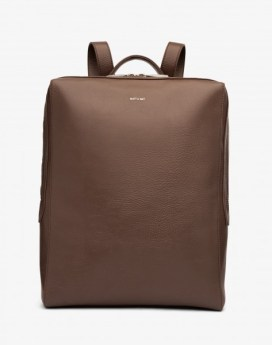 Matt and Nat Kowloon Backpack Dwell Collection Chestnut Front
