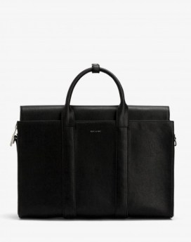 Matt and Nat Parallel Satchel Vintage Collection Black Front