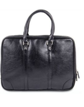 Bugatti Laptop Briefcase EXB510SP- Black Front