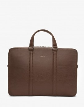Matt and Nat Harman Briefcase Dwell Collection Chestnut Front