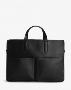 Matt and Nat Soren Briefcase Vintage Collection Black Front