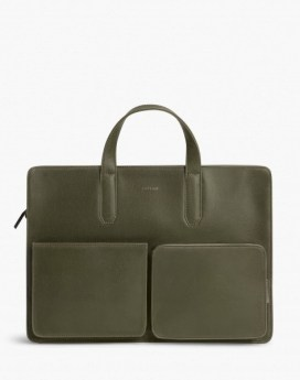 Matt and Nat Soren Briefcase Vintage Collection Olive Front