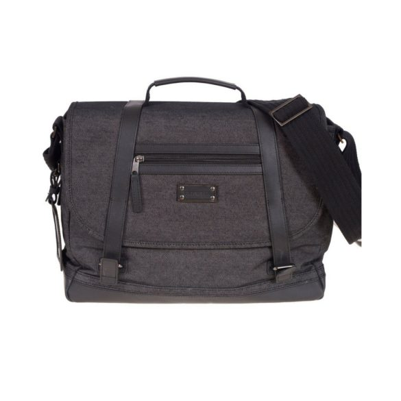 Renwick Messenger Shoulder Bag with RFID Protection E0500 RW Black Front