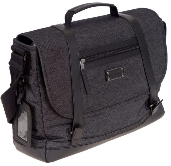 Renwick Messenger Shoulder Bag with RFID Protection E0500 RW Black Side