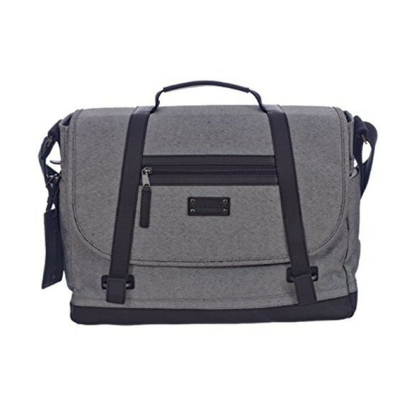 Renwick Messenger Shoulder Bag with RFID Protection E0500 RW Grey Front