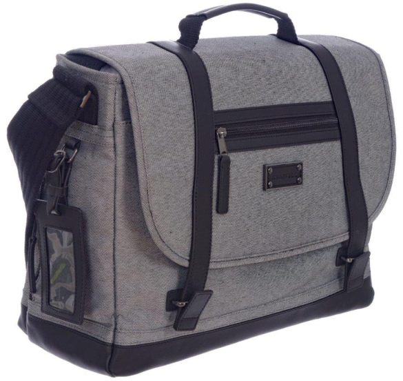 Renwick Messenger Shoulder Bag with RFID Protection E0500 RW Grey Side