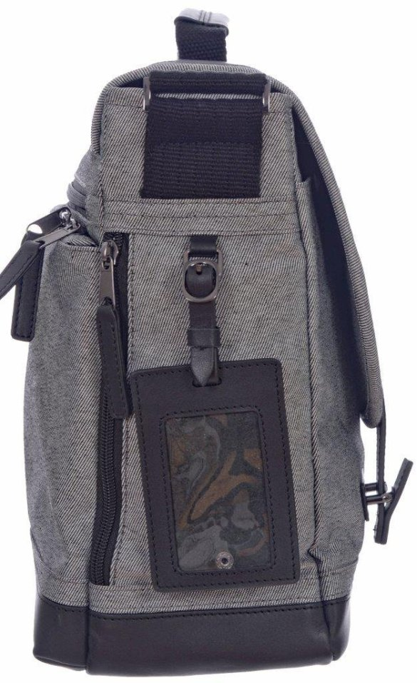 Renwick Messenger Shoulder Bag with RFID Protection E0500 RW Grey Tag