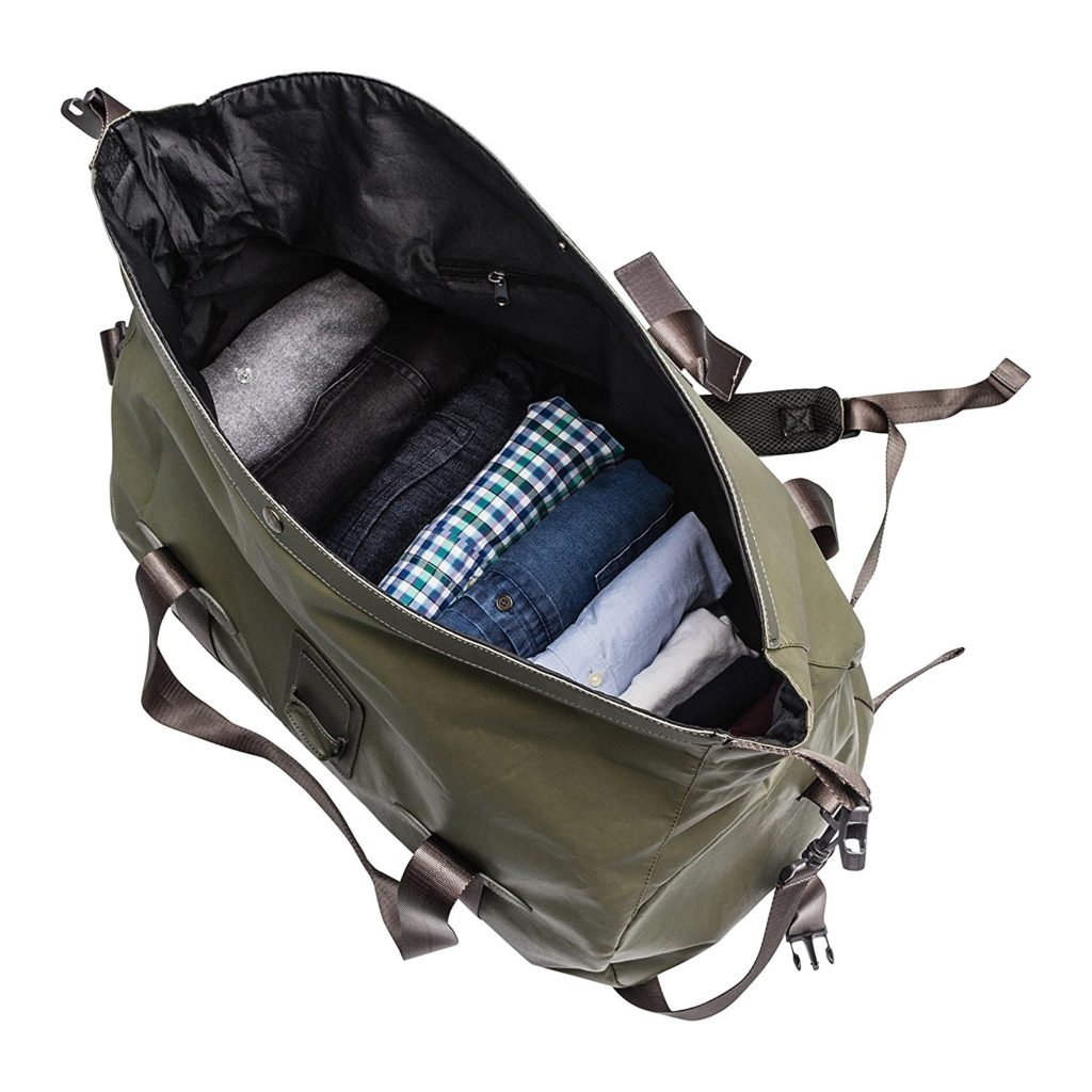 Renwick Travel Roll Top Duffel Bag With Backpack Straps