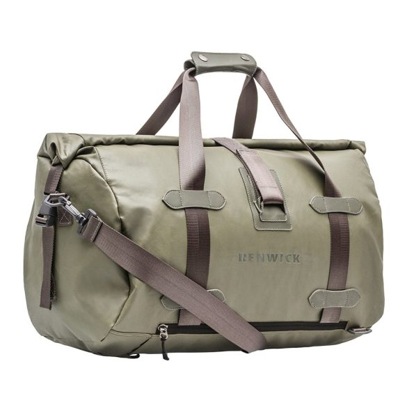 Renwick Travel Roll Top Duffel Bag with Backpack Straps B0380 RW Green Side