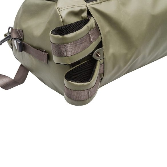 Renwick Travel Roll Top Duffel Bag with Backpack Straps B0380 RW Green Straps