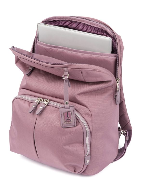 Travelpro Pathway Collection Poly Backpack Dusty Rose TP22206 Open