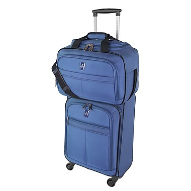 Atlantic Essential 2-Piece Set Travel Tote and 18 inch Carry-On AL18202 Blue Set 1