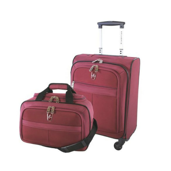 Atlantic Essential 2-Piece Set Travel Tote and 18 inch Carry-On AL18202 Burgundy