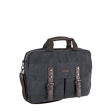 Roots 73 15.6 inch Laptop Canvas Briefcase RTS3463 Grey Front