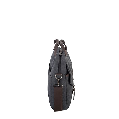 Roots 73 15.6 inch Laptop Canvas Briefcase RTS3463 Grey Side