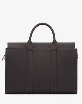 Matt and Nat Parallel Satchel Vintage Collection Charcoal Front