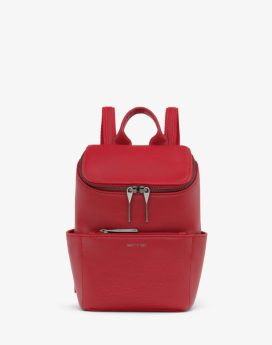 Matt and Nat Brave Mini Backpack Dwell Collection Red Front
