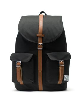 Herschel Supply Co Dawson Backpack Black Tan Synthetic Leather Front